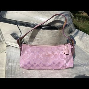 Vintage pink coach mini handbag